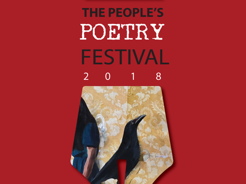 Poster for The People's Poetry Festival Art Opening on October 19