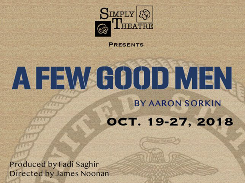 Poster for Simply Theatre's production of A Few Good Men