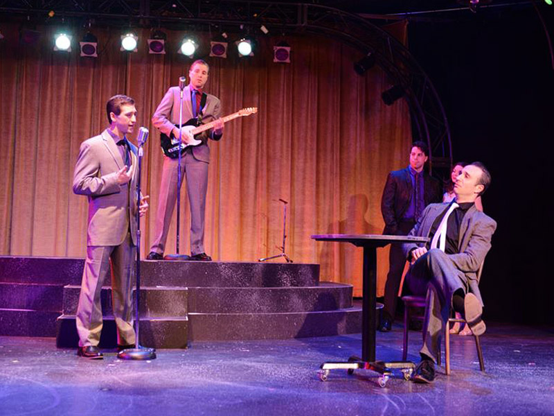 The cast of Stage West Calgay's production of Jersey Boys