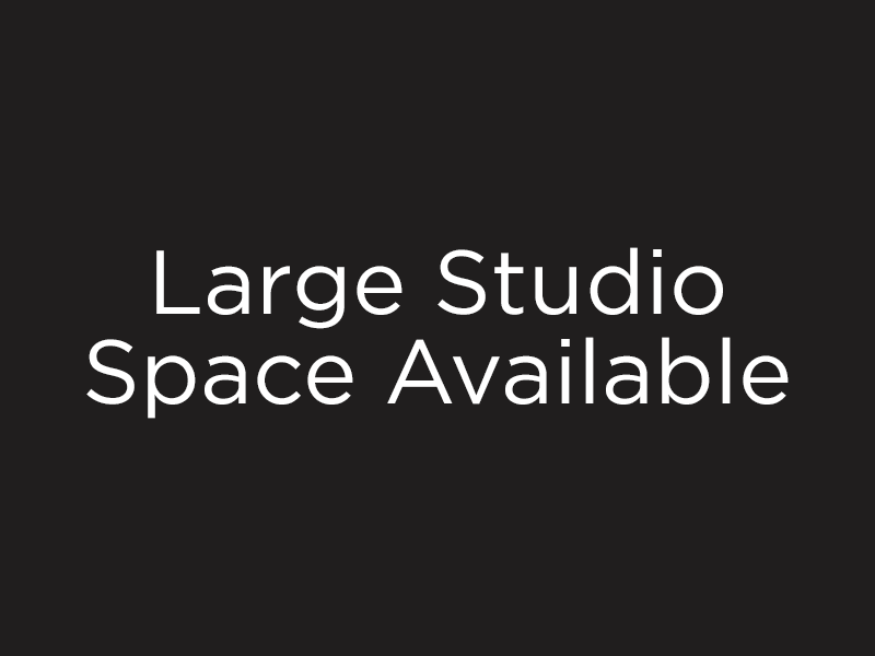 Image text - Large Studio Space Available