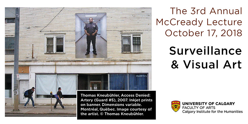 Poster for Visual Art, Colonial Legacies, & Contemporary Forms of Surveillant Policing