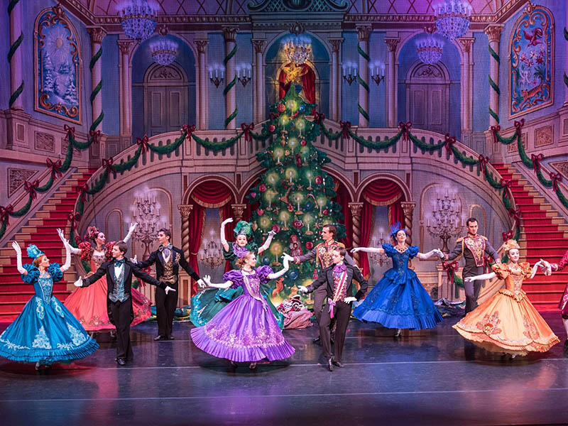 Dancers perform in the Moscow Ballet's Great Russian Nutcracker