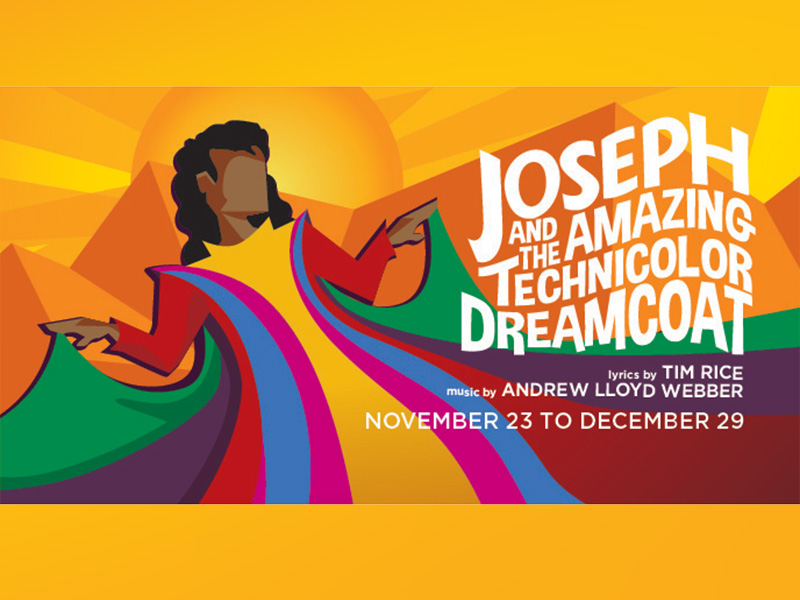 Poster for StoryBook Theatre's production of Joseph and the Amazing Technicolor Dreamcoat