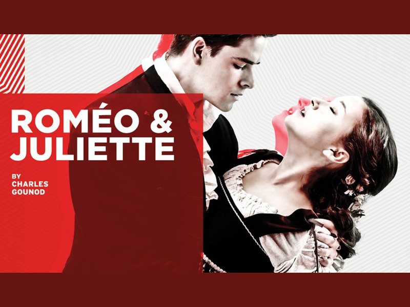 Promotional image for Calgary Opera's production of Roméo & Juliette