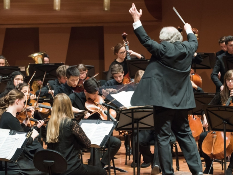 A photo of the Calgary Youth Orchestra performing