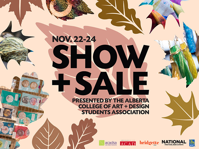 A poster for the 2018 ACADSA Fall Show + Sale