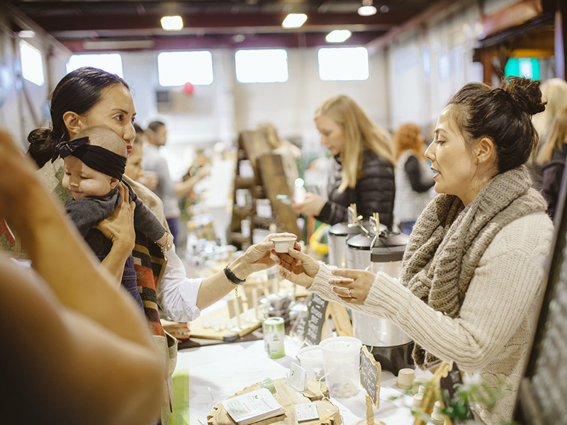 A photo of people shopping at Market Collective