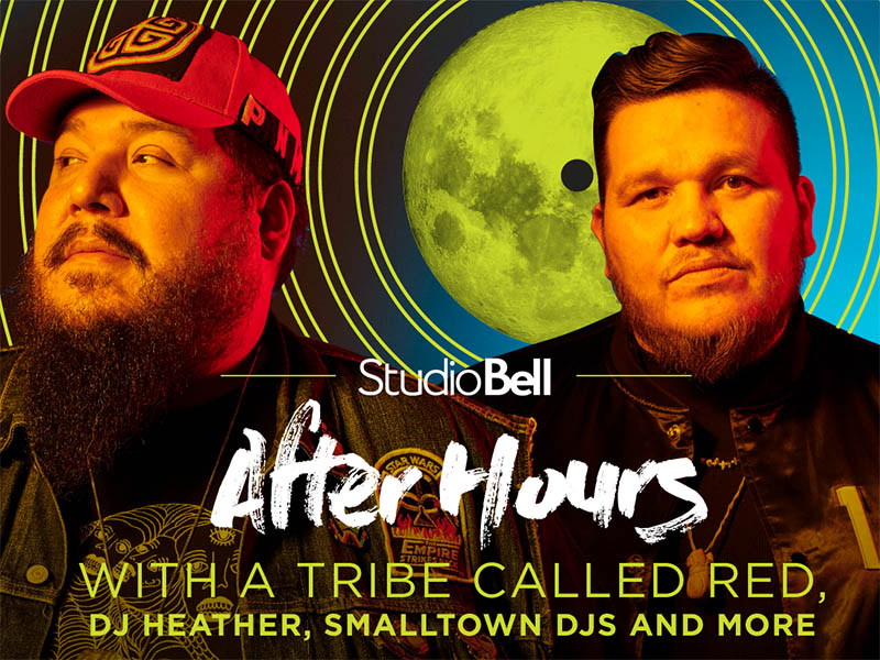 A poster for Studio Bell After Hours featuring A Tribe Called Red