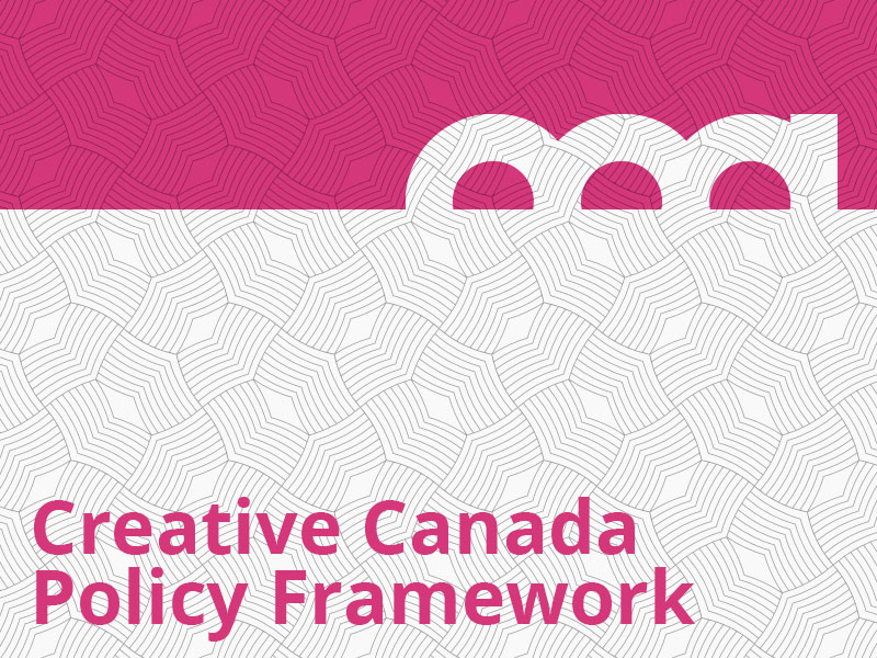 Creative Canada Policy Framework graphic