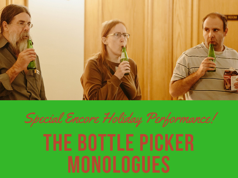 A poster for The Bottle Picker Monologues