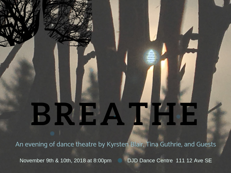 Poster for Kyrsten Blair and Tina Guthrie's Breathe
