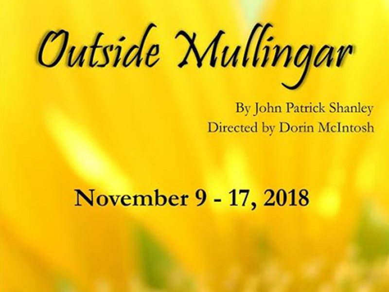 A poster for Liffey Players Drama Society presents Outside Mullingar