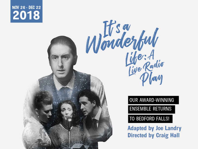 Poster for It's a Wonderful Life: A Live Radio Play at Lunchbox Theatre