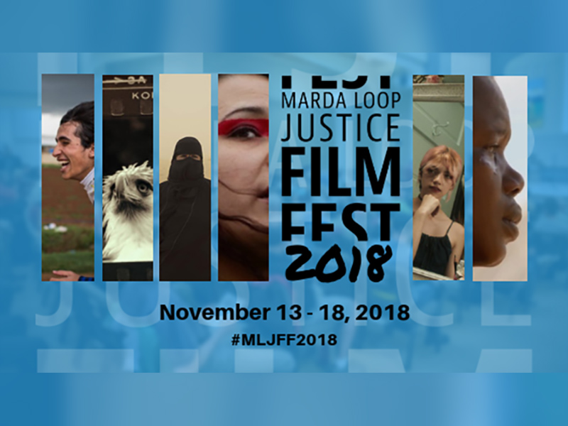 Poster for the Marda Loop Justice Film Festival