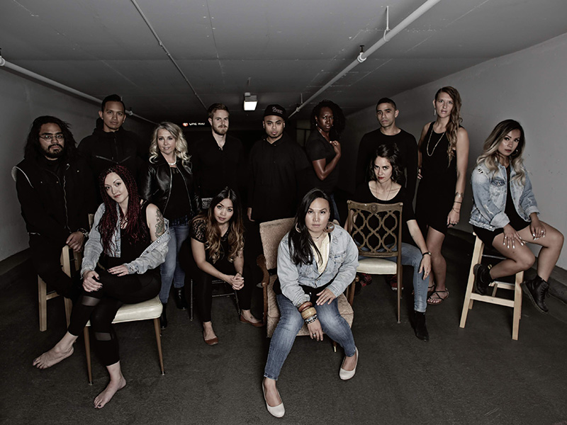 The cast of Movement With A Message's Rewritten