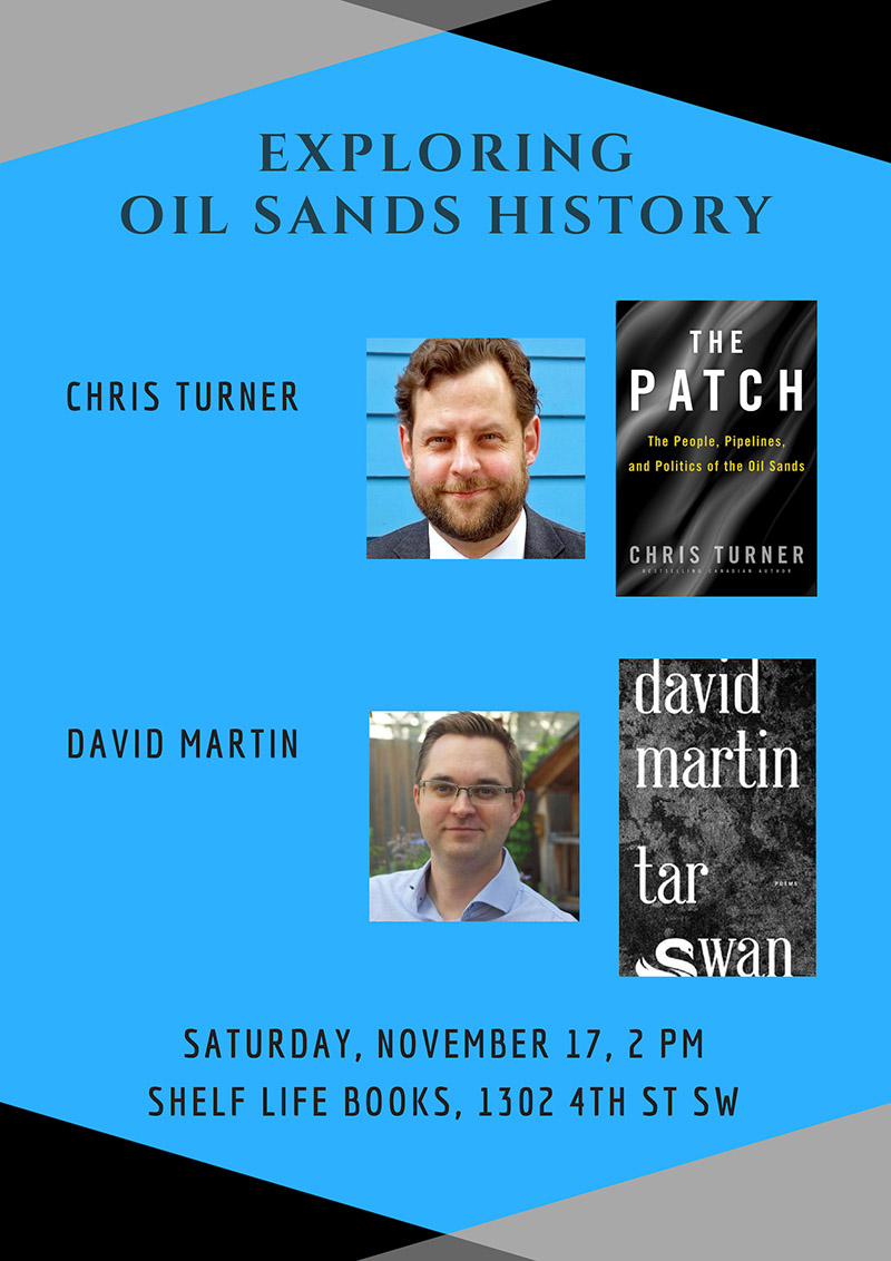 Poster for Exploring Oil Sands History at Shelf Life Books