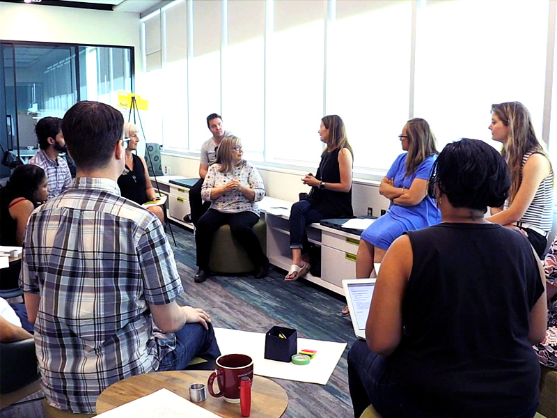 Artist as Changemakers cohort meeting in the Trico Changemakers Studio