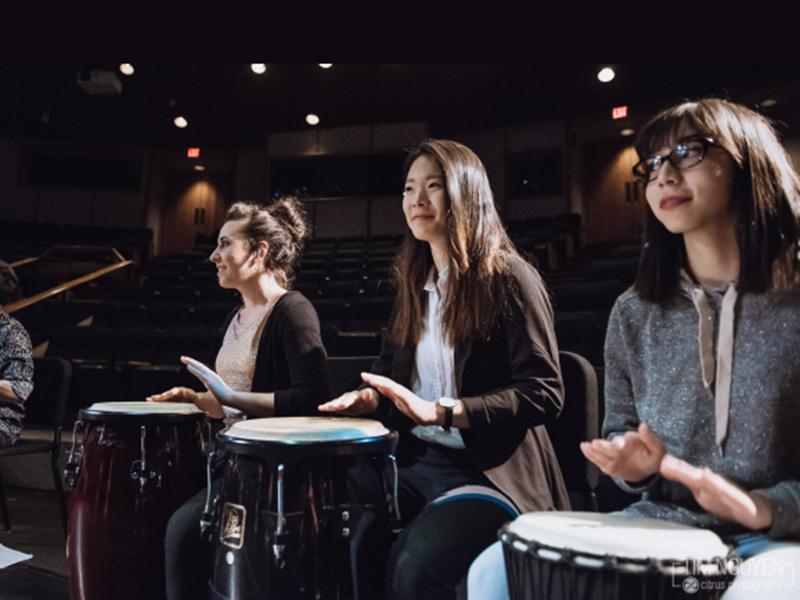 World Music Ensemble performing