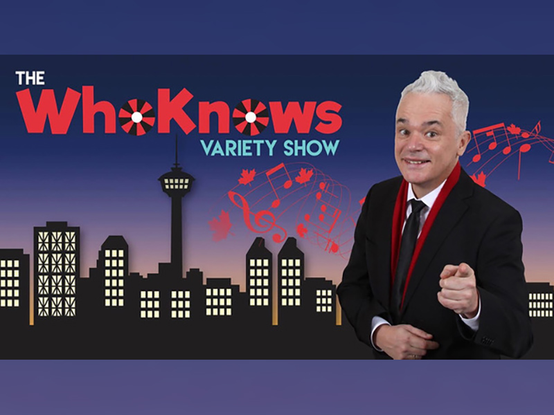 A poster for The WhoKnows Variety Show