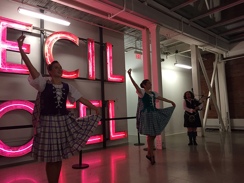 Highland Dancers perform at the Robbie Burns Bash in the St. Louis Hotel
