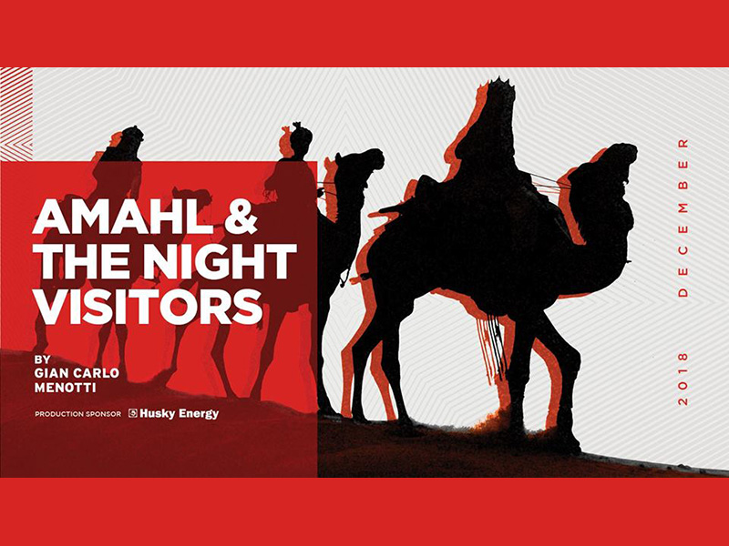 A poster for Calgary Opera's Amahl & the Night Visitors