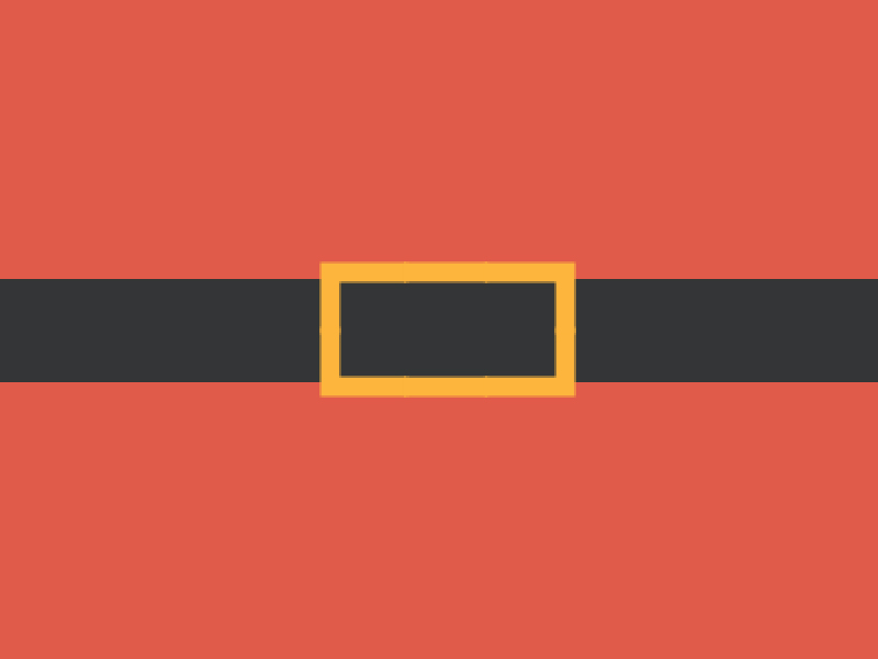 A graphic of Santa's belt on a red background