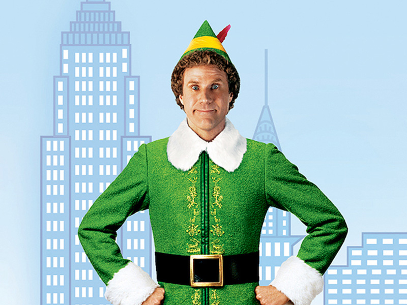 A promo image for the film Elf, starring Will Ferrell