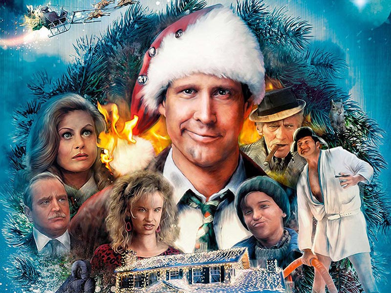 A promo illustration from National Lampoon's Christmas Vacation