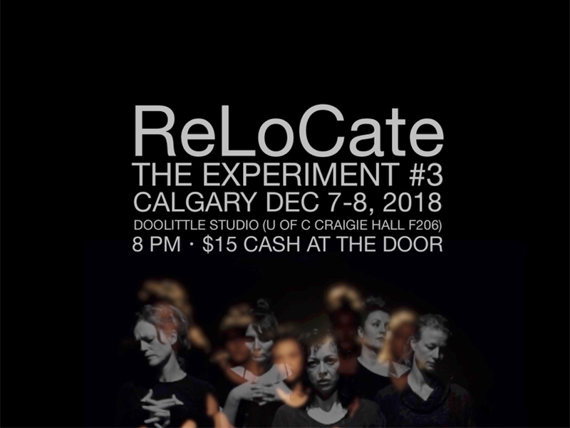 A poster for ReLoCate's The Experiment #3