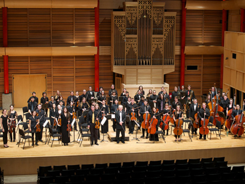 A photo of the UCalgary Orchestra
