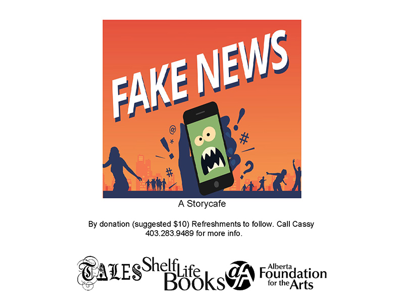 Poster for TALES Storycafe: Fake News Live