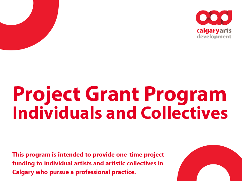 Project Grant Program – Individuals and Collectives graphic