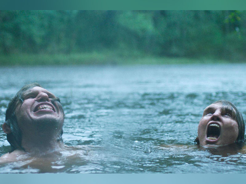 A still from Ali Abbasi's Border of the two main characters swimming