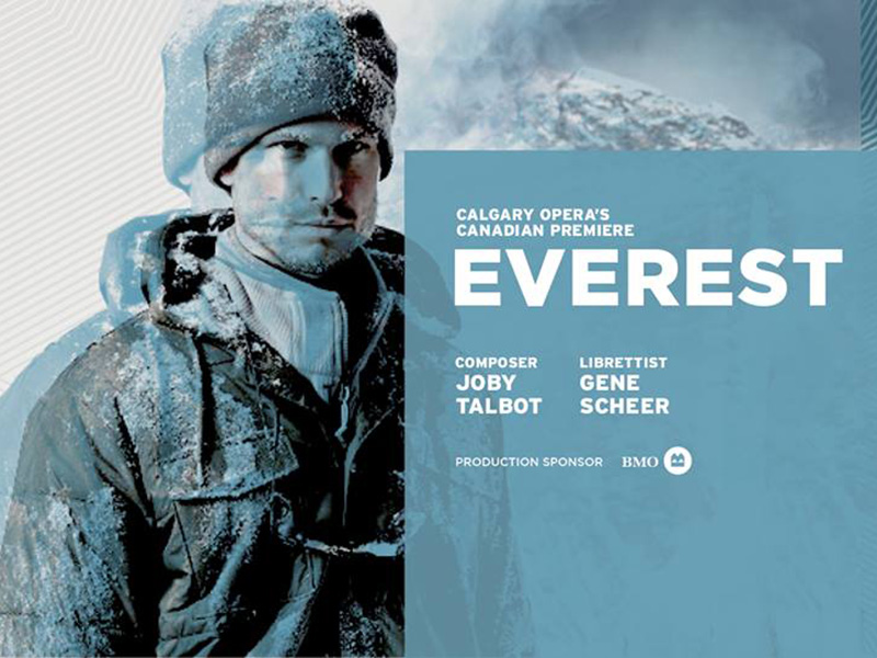 A promotional photo for Calgary Opera's Everest