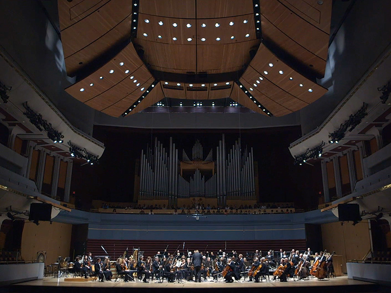 Calgary Philharmonic Orchestra performing in the Jack Singer Concert Hall
