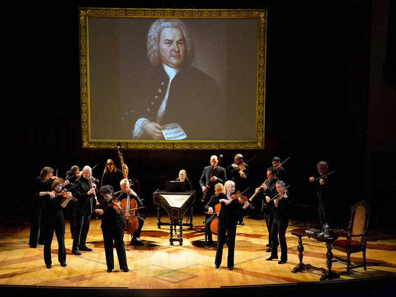 Tafelmusik Baroque Orchestra on stage with its performance of J.S. Bach: The Circle of Creation