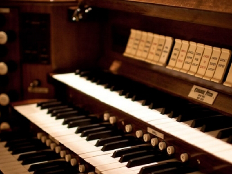 The Casavant pipe organ at the Cathedral Church of the Redeemer