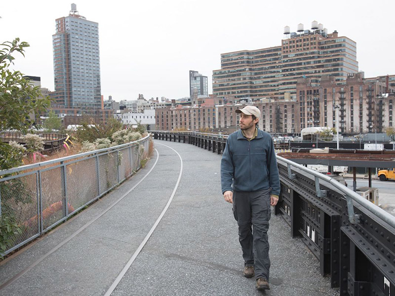 Matt Green in Hudson Yards Manhattan