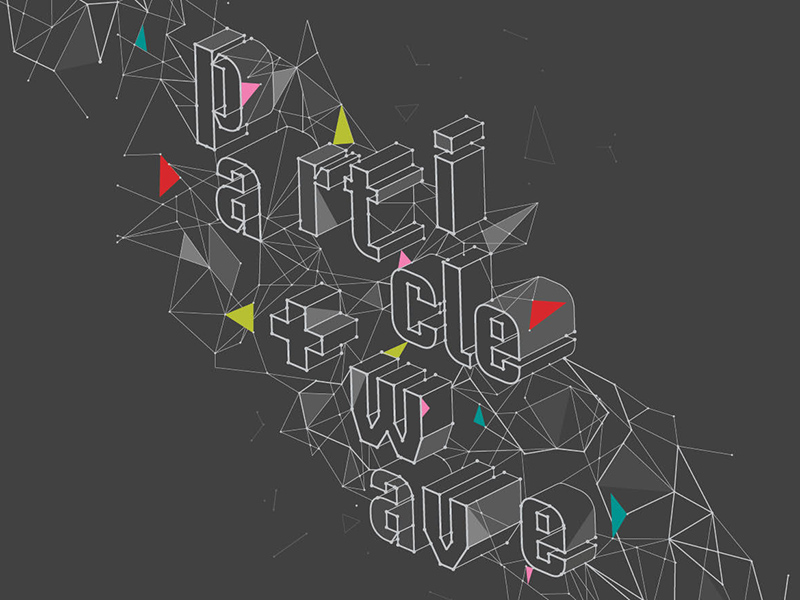 A poster for EMMEDIA's PARTICLE + WAVE Media Arts Festival
