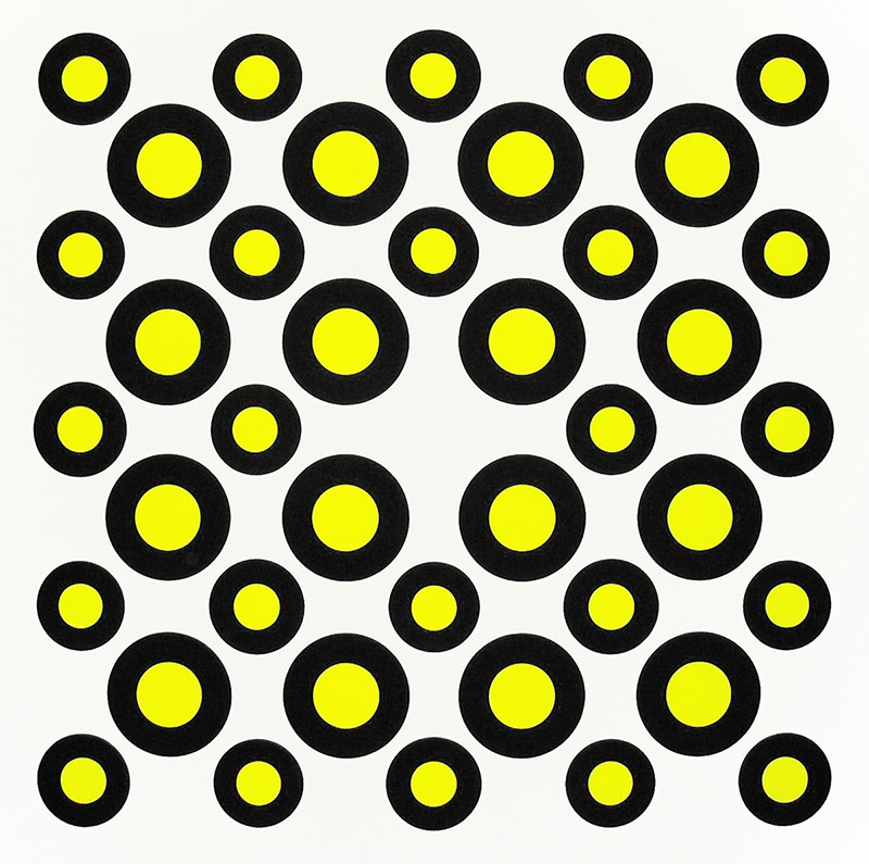 Neil Campbell's Saskatchewan is made up of a pattern of black and neon yellow circles