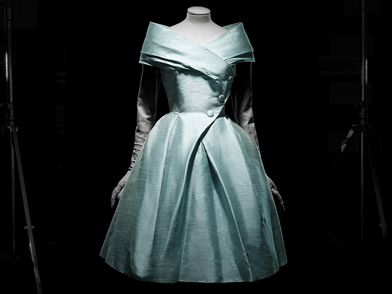 A photo of Christian Dior's Caracas Late Afternoon Dress on display
