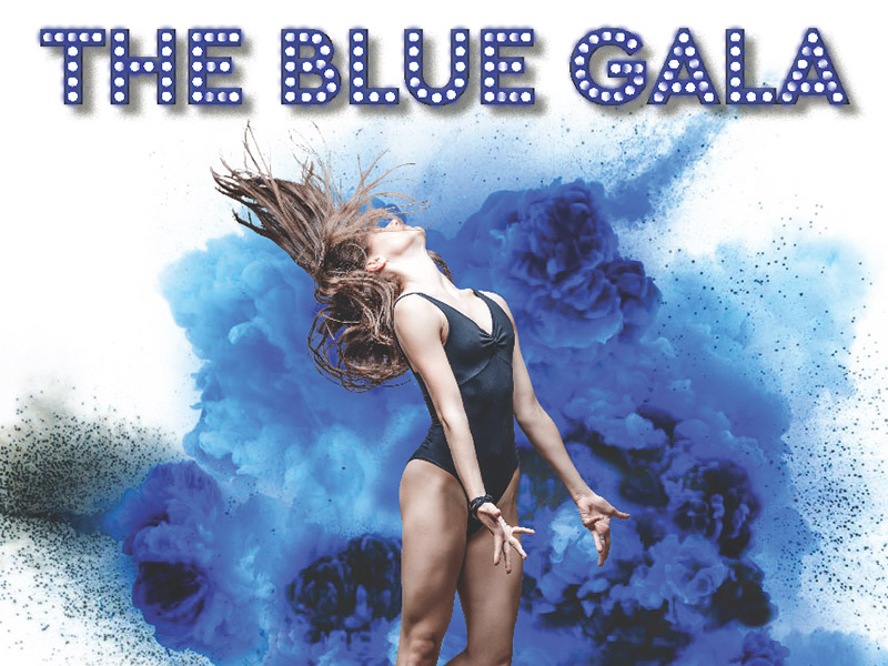 A poster for the H/W School of Ballet's Blue Gala