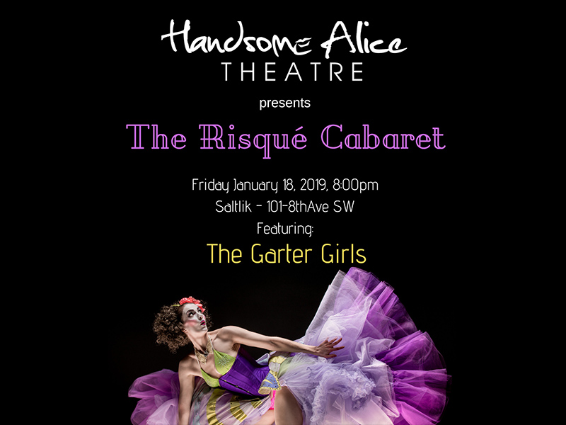 Poster for The Risqué Cabaret with Handsome Alice Theatre