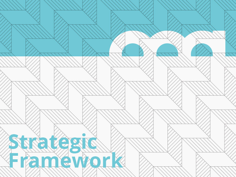 A graphic that says Strategic Framework