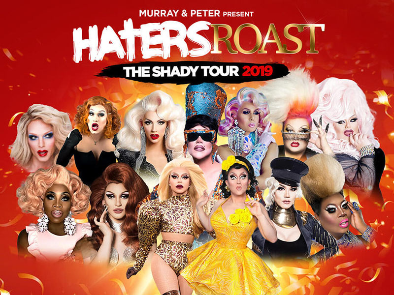 A poster for Haters Roast – The Shady Tour