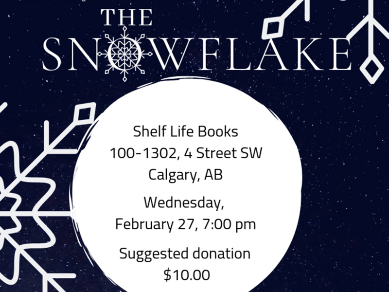 A poster for TALES Storycafe: The Snowflake
