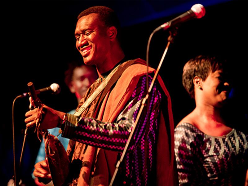 Malian pop icon Habib Koité performs on stage