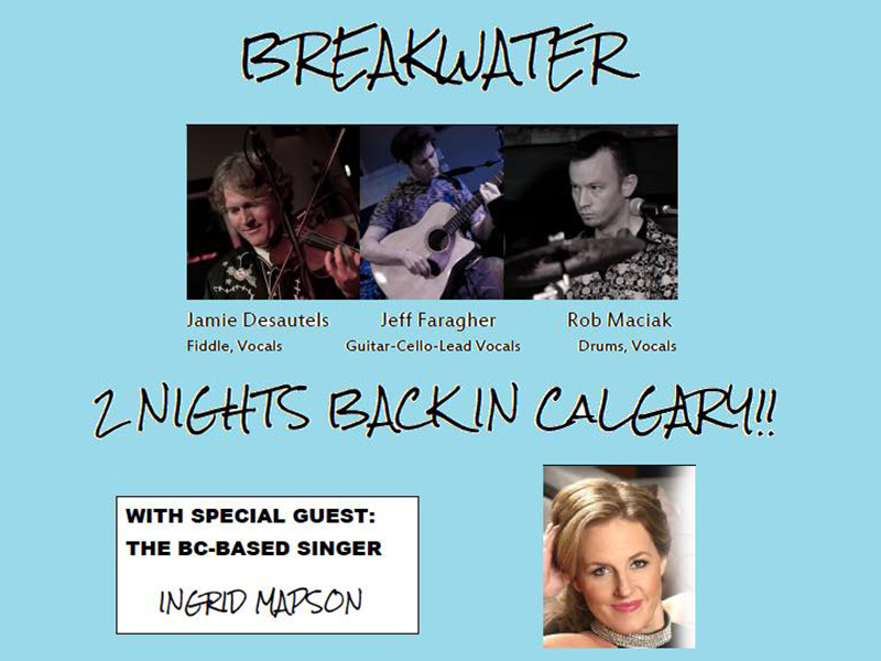 A poster for Breakwater with Ingrid Mapson