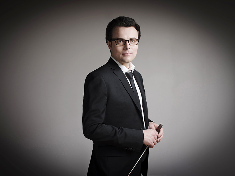 A promotional photo of conductor Martin MacDonald