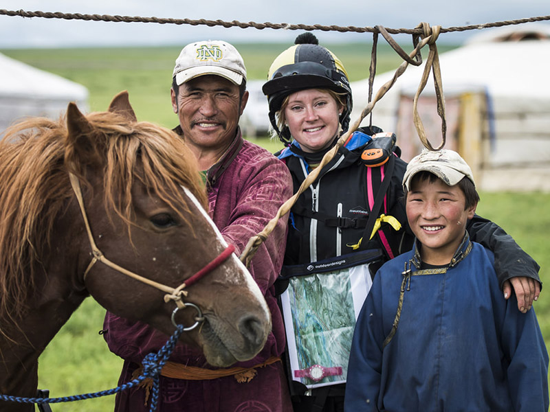 Racers compete in the Mongol Derby